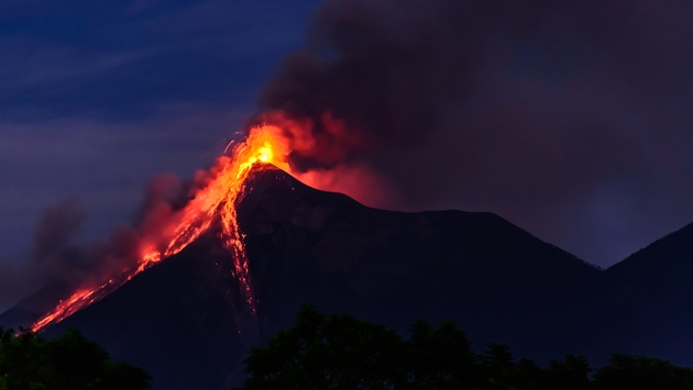 Thousands are urged to evacuate as erupting 'Fuego Volcano' spews lava in Guatemala