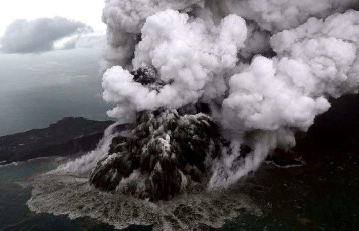 Indonesian Tsunami Volcano Loses Two-Thirds of its Height