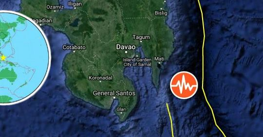 Magnitude 7.2 Earthquake Hits Near the Coast of Philippines, Tsunami Warning issued