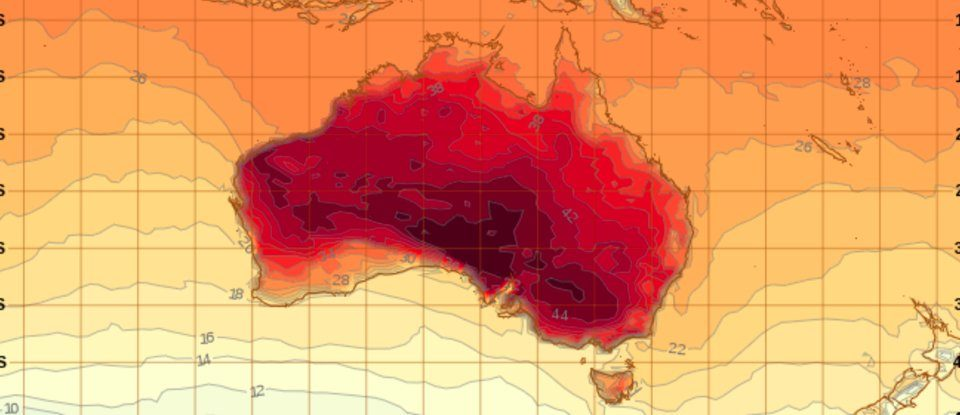 Map Makes It Look Like Australia Is on Fire, and It Kinda Is