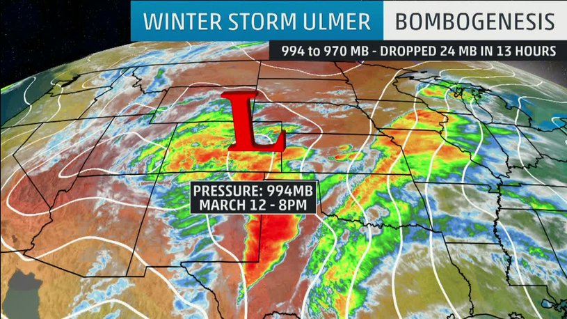 Historic Blizzard Blasts 100 mph Winds Across Central US, Turns Deadly
