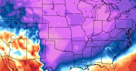 Major Storm Races Coast-to-Coast followed by another cold blast for the U.S.