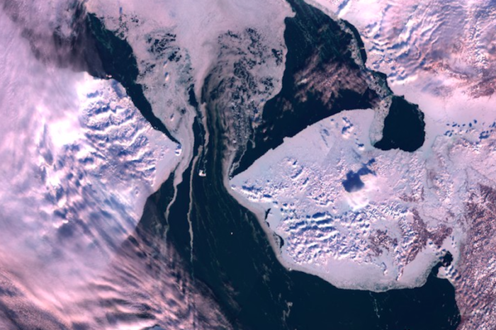 The Bering Strait should be covered in ice, but it's nearly all gone
