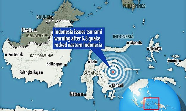 6.8 Earthquake Strikes Indonesia, Sparking Tsunami Warning and sending terrified locals fleeing from their homes