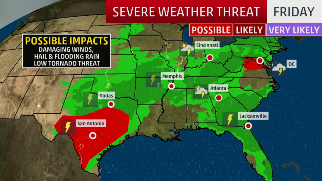 Severe Weather Alert for the Central U S  May 1st, 2019 and