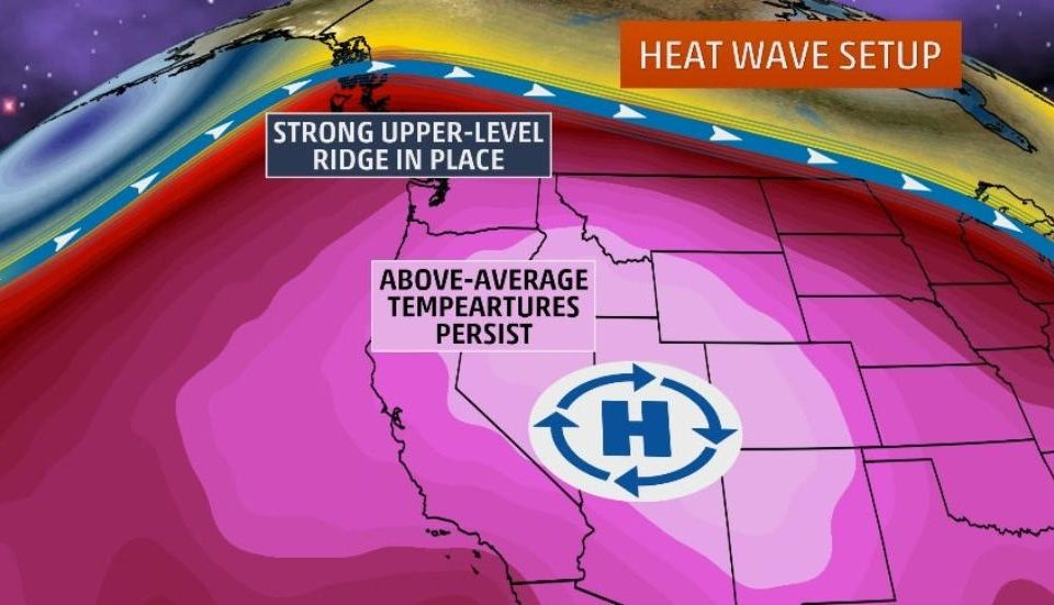Record Breaking Heat from Los Angeles to San Francisco Topping 100 degrees