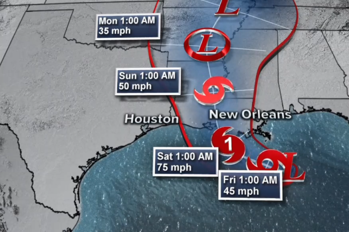 Storm Surge Produced by Barry to affect beaches in four Gulf Coast states