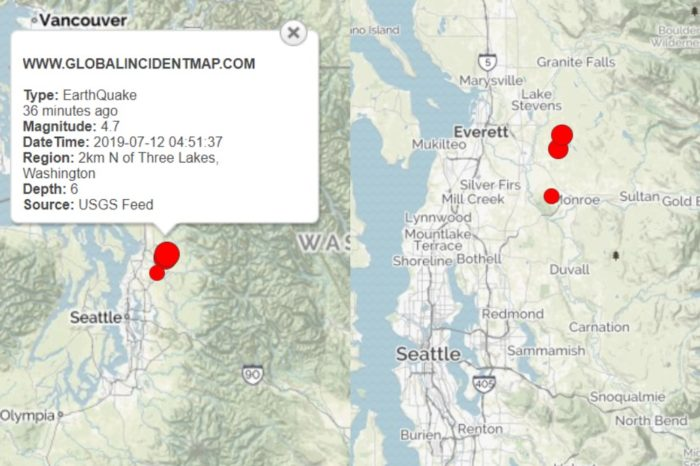 Earthquake Rattles Seattle area, followed by aftershock