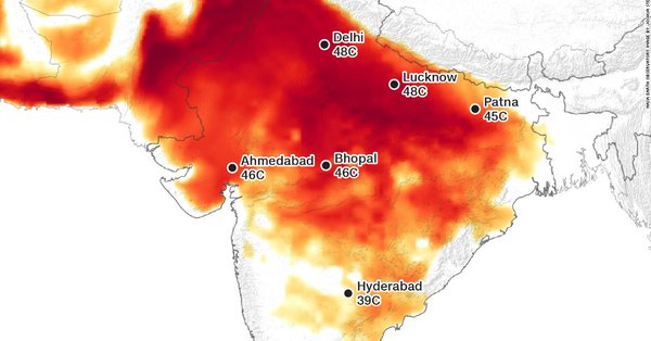 Parts of India Becoming Too Hot for Humans Temperatures Soar Past 120 Degrees