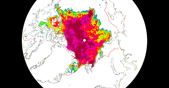 July 2019 Breaks Records for Rapid Ice Melt in the Arctic Circle