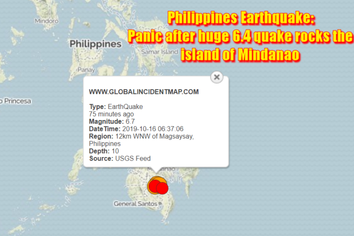 Philippines Earthquake Panic after huge 6.4 quake rocks the island of Mindanao