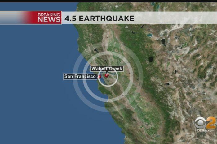 4.5-magnitude earthquake hits near San Francisco Bay area
