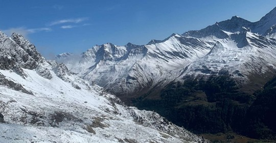 Glaciers on Mont Blanc are melting rapidly in response to the warming of the Earth