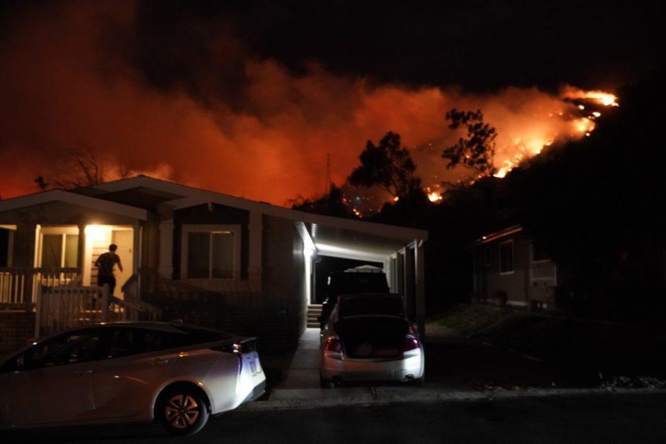 Saddleridge Fire Burning Homes, Threatening Numerous Foothill Communities