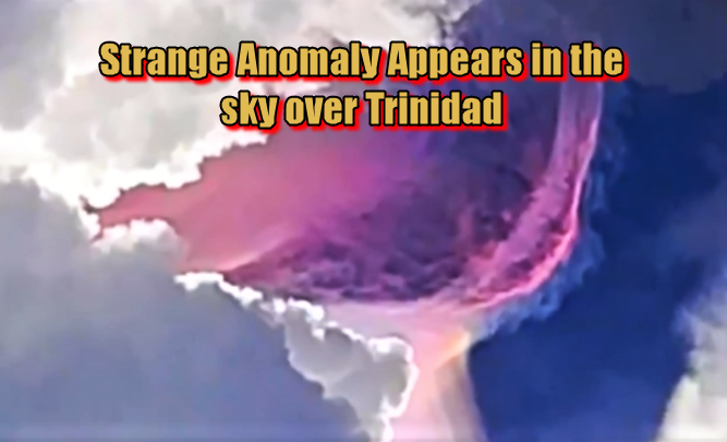 Strange Anomaly Appears in the sky over Trinidad