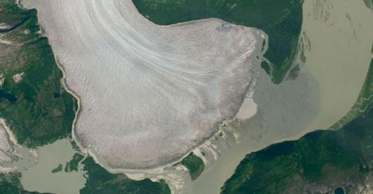 NASA Images Reveal World's Thickest Mountain Taku Glacier Melting