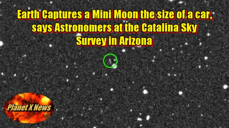 Earth Captures a Mini Moon the size of a car, says Astronomers at the Catalina Sky Survey in Arizona