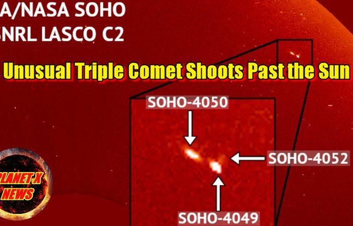 Unusual Triple Comet Shoots Past the Sun