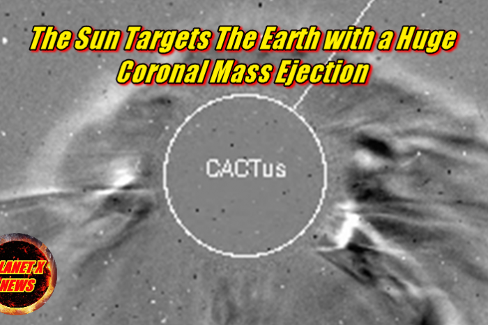 The Sun Targets The Earth with a Huge Coronal Mass Ejection