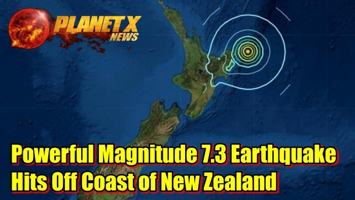 Powerful Magnitude 7.3 Earthquake Hits Off Coast of New Zealand