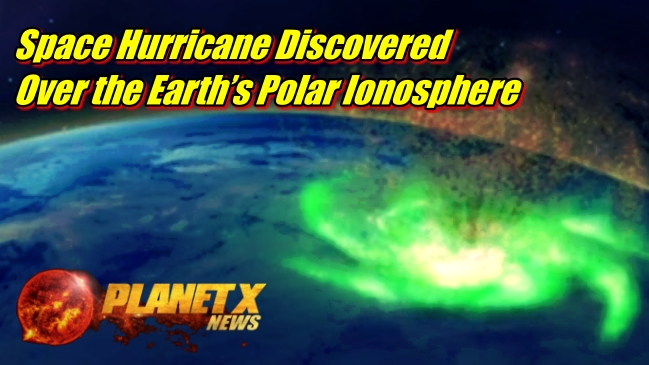Space Hurricane Discovered Over the Earth's Polar Ionosphere